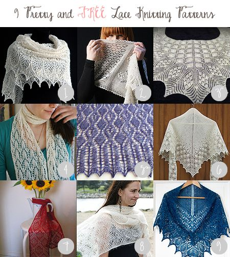 One Badass Mother » 9 Pretty and Free Lace Knitting Patterns