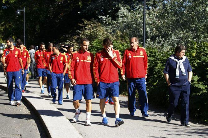 Los jugadores paseando por Helsinki en 2013 #seleccionespanola #LaRoja #diariodelaroja