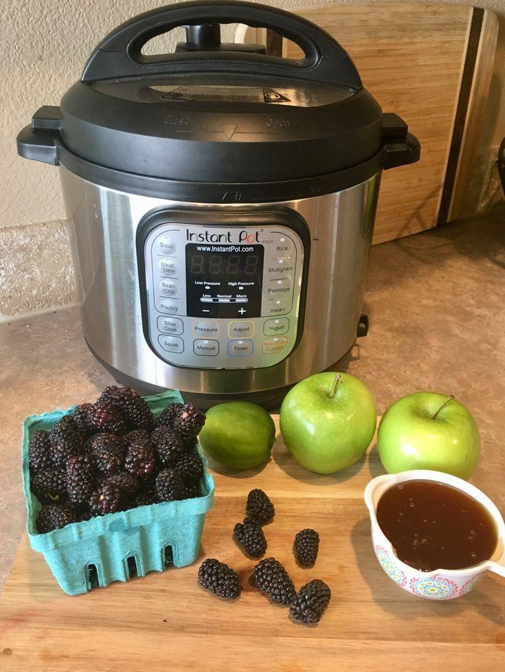 Instant Pot Blackberry Jam (No Sugar, No Pectin)   Recipe ...
