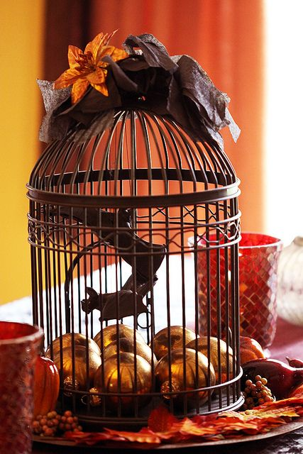 A classic idea giving bird cage halloween twist with