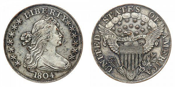 1804 Draped Bust Silver Dollar All Varieties Coin Value Prices Photos Info In 2020 Rare Coins Worth Money Coin Worth Valuable Coins