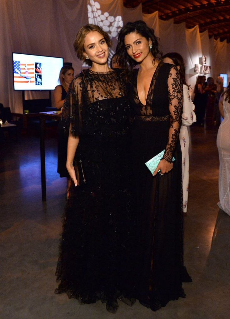 Pictured: Jessica Alba and Camila Alves Image Source: Getty / Stefanie Keenan