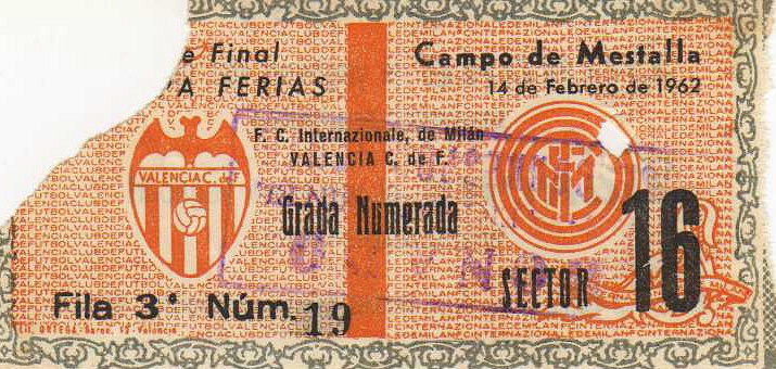 VCF-Inter 61-62 (Copa de Ferias): Football, Programs, Crown, 61 62 Copa, Vcf Inter 61 62, Entradas Football Tickets