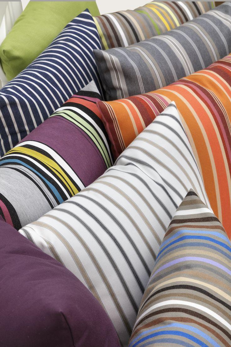 Our lovely sunbrella cushions! www.formlagret.se