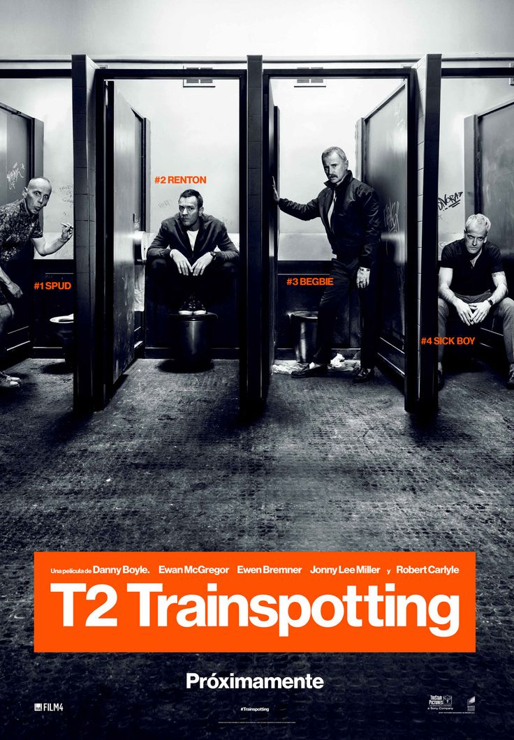T2 Trainspotting is a 2017 British comedy drama film, set in and around Edinburgh, Scotland. The film is directed by Danny Boyle and written by John Hodge, based on characters created by Irvine Welsh in his novel Trainspotting