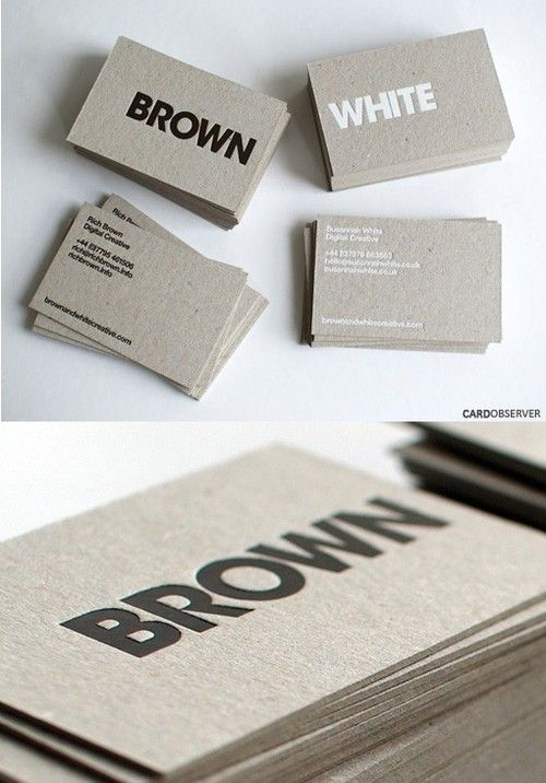 business card--i like the material