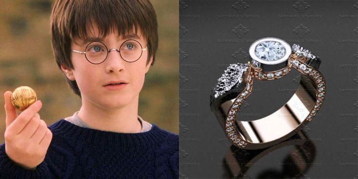 Gli anelli di fidanzamento ispirati a Harry Potter ti fanno luccicare la pupilla