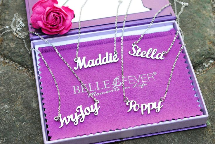 Personalised Name Necklaces bit.ly/1LFYpVi #BelleFever #Jewellery #Namenecklace