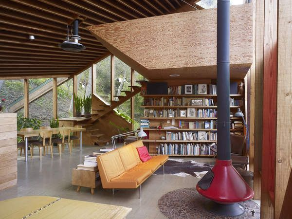 """Schaffer Residence by John Lautner.   This house was used in """"A Single Man"""".  HOT!"""