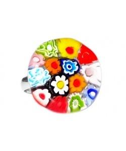 Kleurrijke bloemetjes ring voor kinderen!