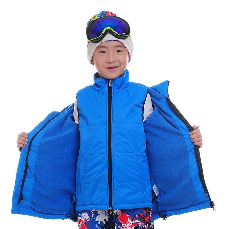 Children Snowboard Jackets Twinset Outdoor Skiing Trousers Boys Girls Ski Pants Warm Jacket Waistcoat Pants Three In One Ski Set #Affiliate