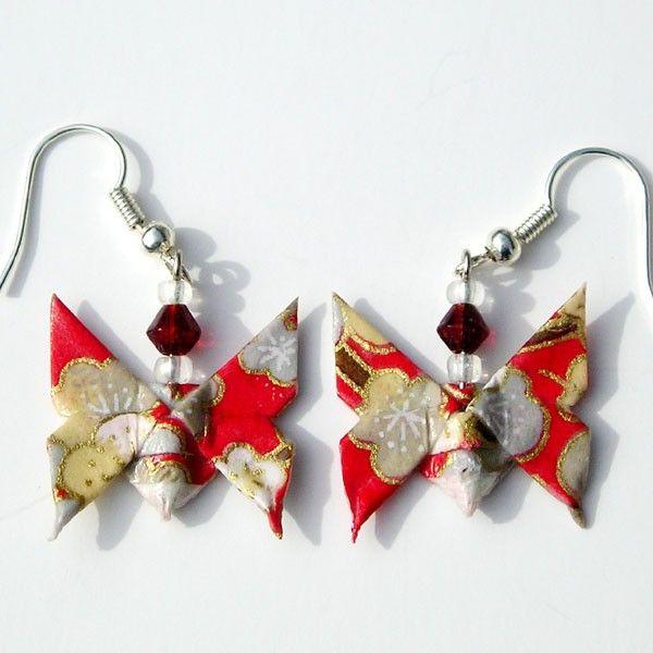 Boucles d'oreille Origami