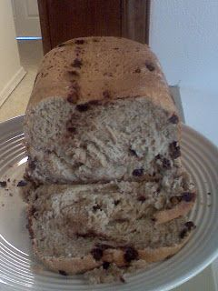 Chocolate Chip Banana Bread for bread machine. this is in the machine right now!