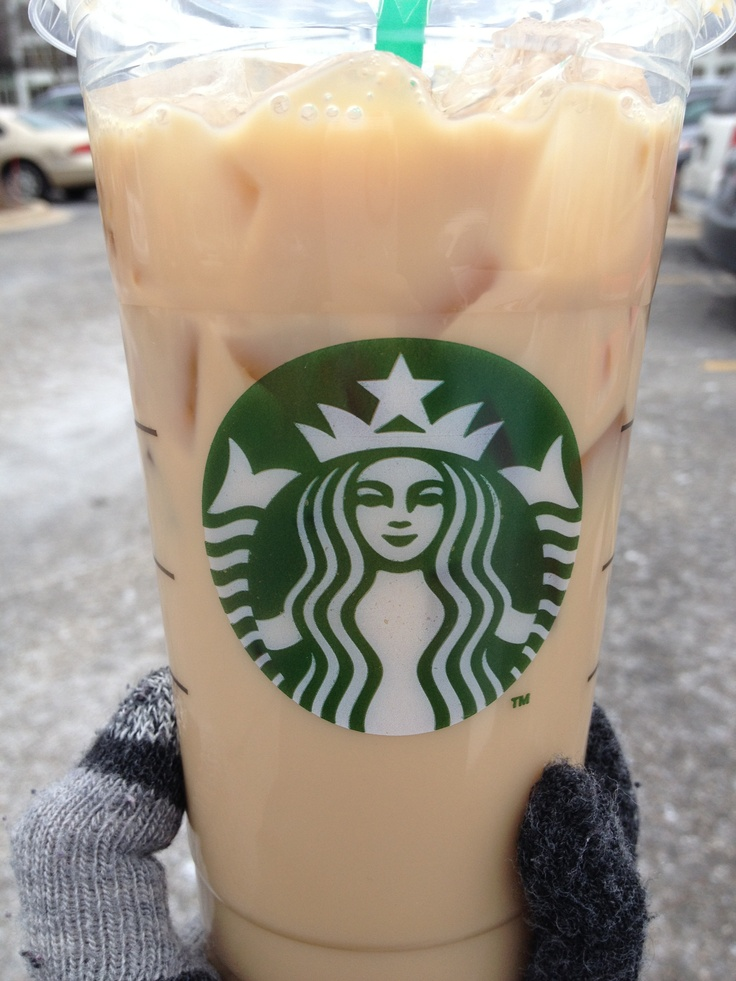 Starbucks Venti iced soy chai...yes, even in dead of winter! 1/16/2013