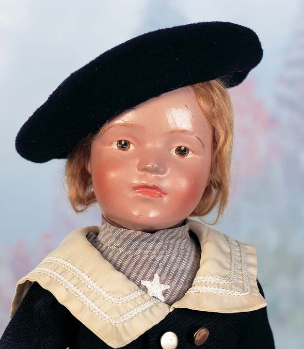 American Wooden Doll by Schoenhut with Original Finish