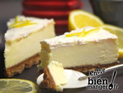Cheesecake au citron, sans cuisson                                                                                                                                                                                 Plus