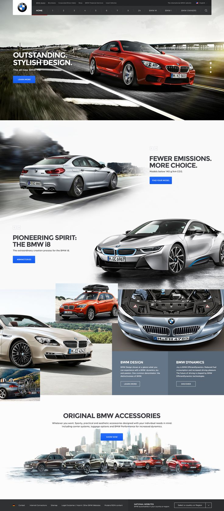 Clean Ui concept design for BMW website by Andrew Baygulov, on dribbble.