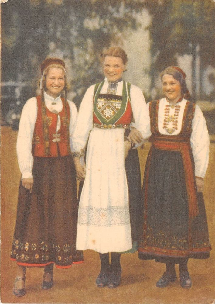 B44308 Norge Hamaroy Voss Og Heddalsbunad traditional costumes  norway