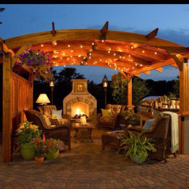 warm patios | Warm and inviting :) | Patios, Porches and Pergolas