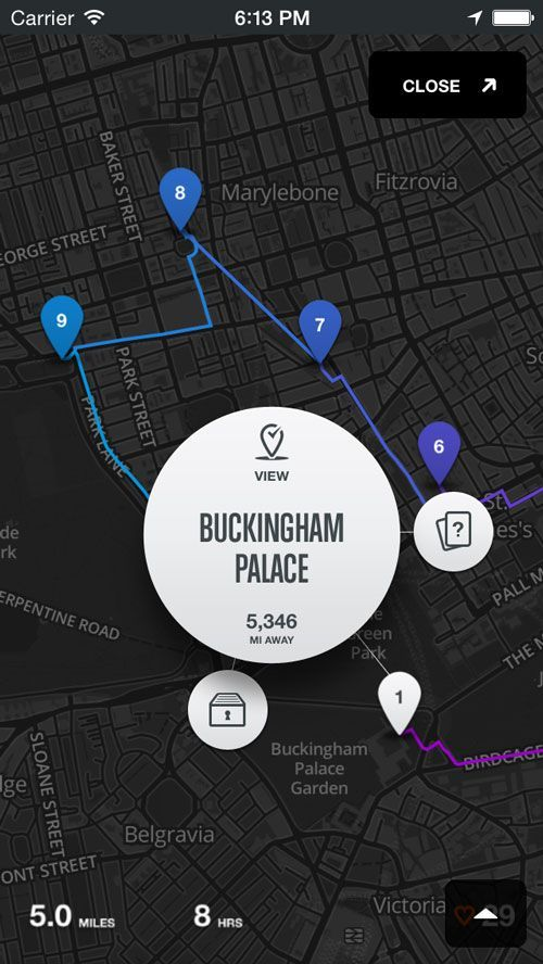 Rally Interactive created this wonderful app to help guide your travels.: