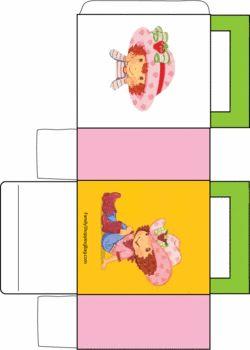 Strawberry Shortcake Country, Strawberry Shortcake, Favor Box - Free Printable Ideas from Family Shoppingbag.com