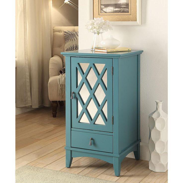 Ceara Teal (Blue) Storage Cabinet