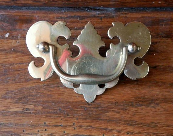 One Cast Brass Chippendale Style Pull Kbc 3 Inch Centers