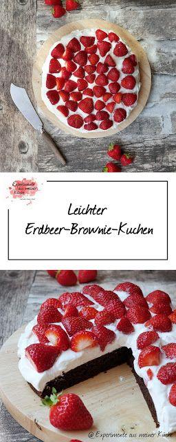 Leichte Erdbeer-Brownies