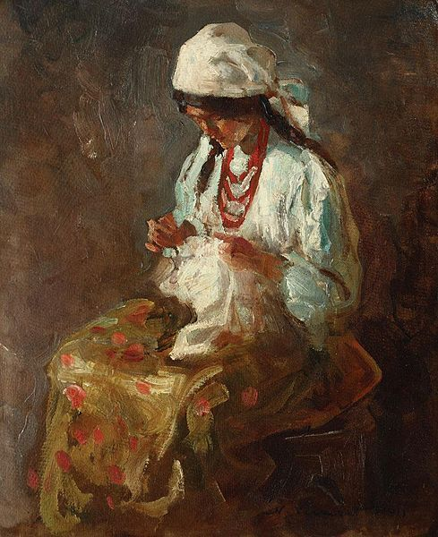 Cusătoreasă (Seamstress) -  Nicolae Vermont (1866–1932)*