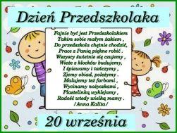 Ogólnopolski Dzień Przedszkolaka - 20 września