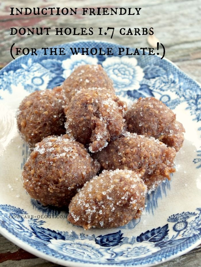 Low Carb Donut Holes from lowcarb-ology.com. Sweet maple flavor, tender donut texture and just 1.7 net carbs for the whole plate!