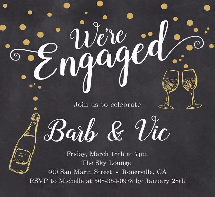Barb Engagement Party Invitations