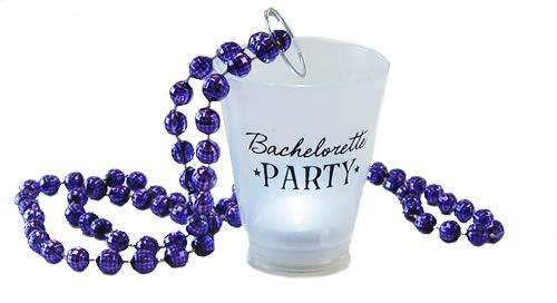 """Bachelorette Party"" Light-Up Shot Glass Necklace: Bachelorette Party Superstore - Bachelorette Party Supplies"