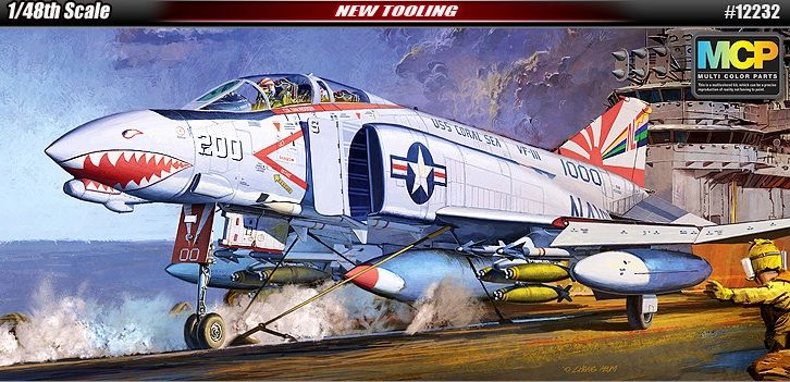 McDonnell Douglas F-4B Phantom II, US Navy, VF-111. Academy, 1/48, injection, No.12232. Price: 39,99 GBP.