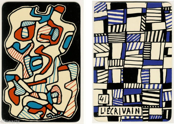 Jean DUBUFFET - #41 L'ÉCRIVAIN - Lithograph - double-sided - Listed Artist