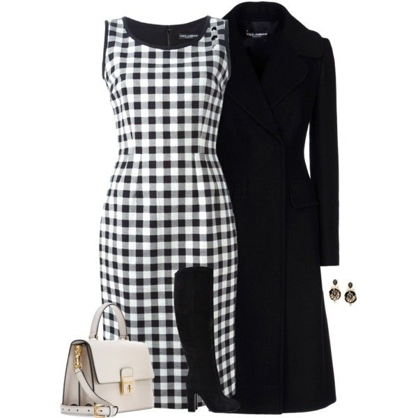 """D&G in Black and White"" by cnh92 on Polyvore"