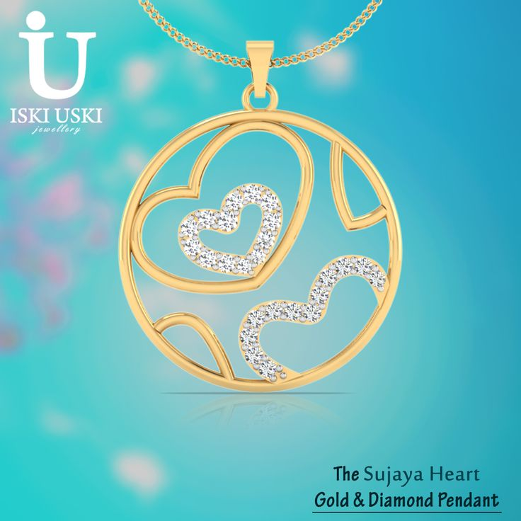 Buy Gold and Diamond Pendant online!!. Now available at best prices and stylish design only IskiUski.com Shop Now: http://goo.gl/9U8CCp
