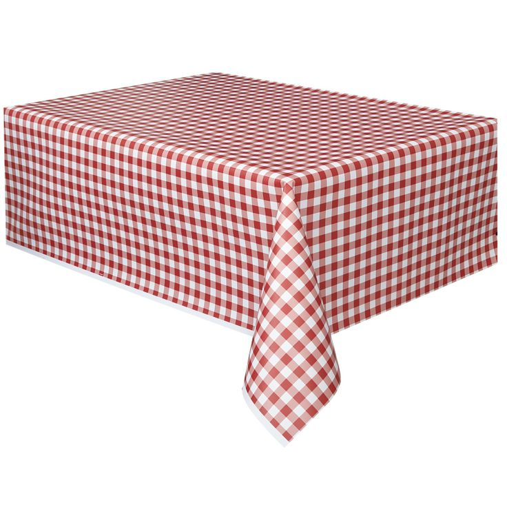 Red Gingham Plastic Tablecloth [COLTWTC03RED] | Discount Party Supplies - Australia - $5.99