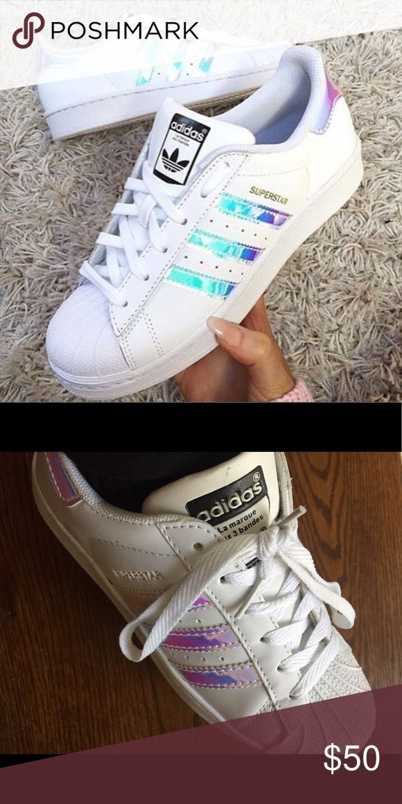 free shipping 83937 a3765 adidas superstar holographic stripes