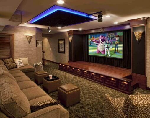 Cool movie room ideas in house...cinema theatre movie themed decor (wall art, film themed accessories, furniture, etc) tips for your home. #hometheatertips