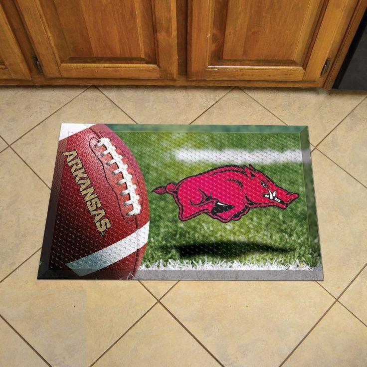 University of Arkansas Doormat Scraper - Ball