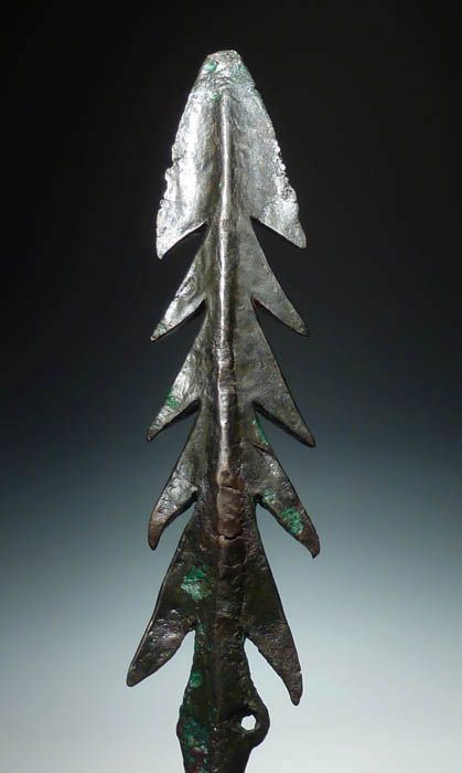 nventory #:1337 Type:Harpoon Material:Copper Period:Bronze Age 2500-1500 B.C. Provenance:Indo-Gangetic Plain Measurements:26 cm long