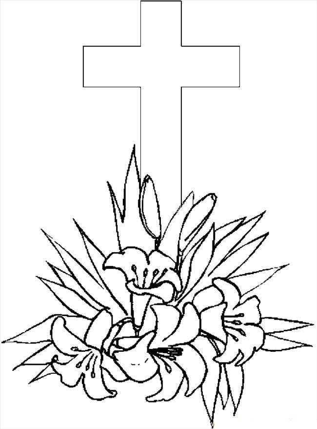 Printable Cross Coloring Page For Kids Cross Coloring Page Coloring Books Coloring Pages