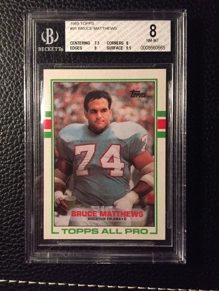 1989 topps bruce matthews rc from $9.99