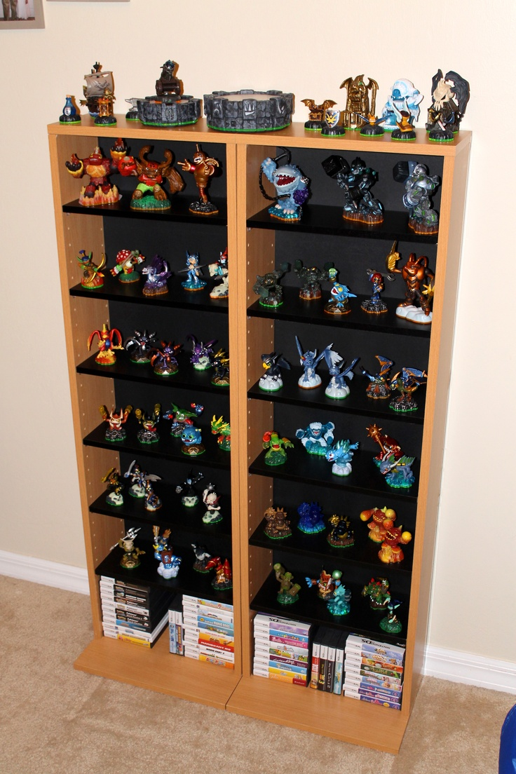 Skylanders Display Shelves Organization Kids Bedroom