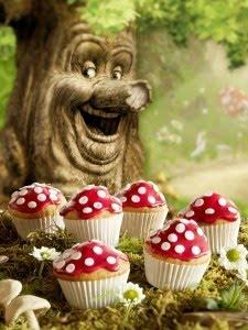 Sprookjesboom cupcakes van Koopmans! Mmm..!