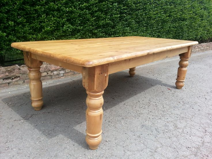 Reclaimed pine 8ft x 4ft Victorian Style table