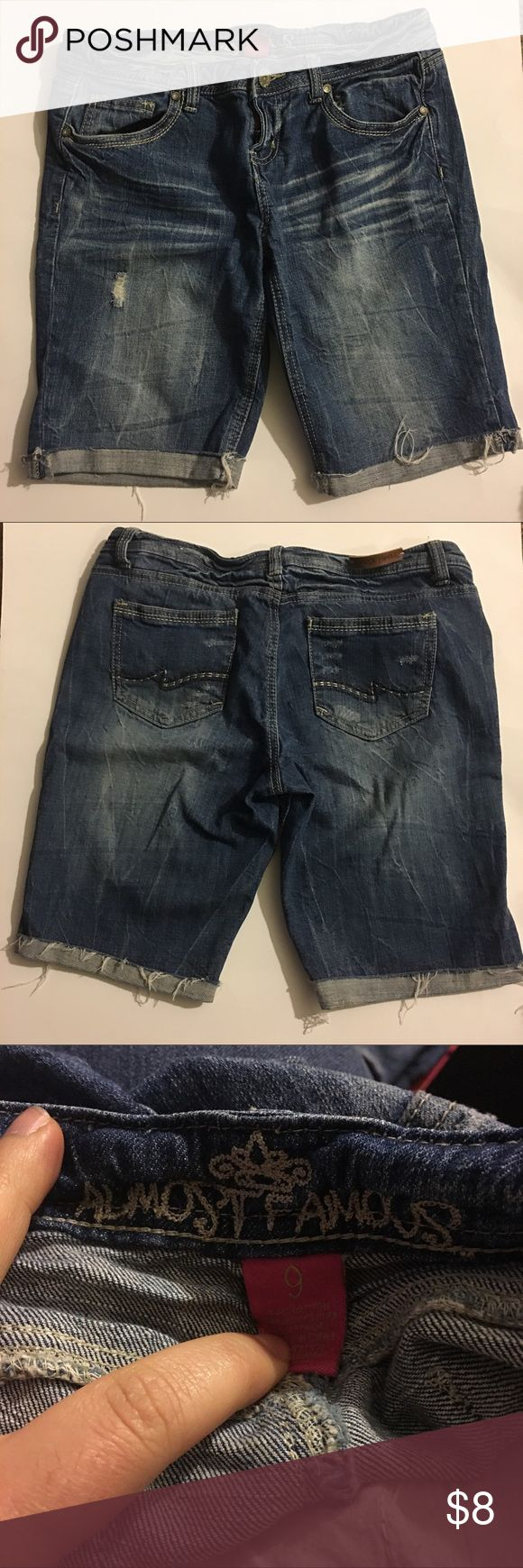 Almost famous Bermuda long Jean Shorts Great condition. No marks or stains. Add three more items to your bundle for 30% off. Almost Famous Shorts Jean Shorts