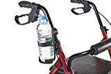 Eurosell - Premium Becher / Flaschen Getränke Halter Halterung für Rollator / Rollstuhl / Kinderwagen / Fahrrad / Gehwagen / Gehhilfe / Fahrrad