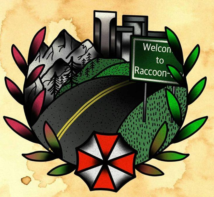 Resident Evil Raccoon City Tattoo Design Resident Evil Tattoo Resident Evil Raccoon City Prints
